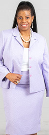 Rafael-90600-Lilac - Two Piece Womens Skirt Suit With Notch Lapel Jacket