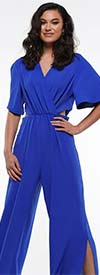 Why Dress-B190501 - Short Sleeve Ladies Jumpsuit With Cut-Out Sides