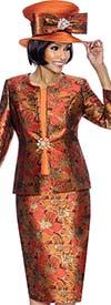 Susanna 3856 - Ladies Floral Pattern Three Piece Skirt Set