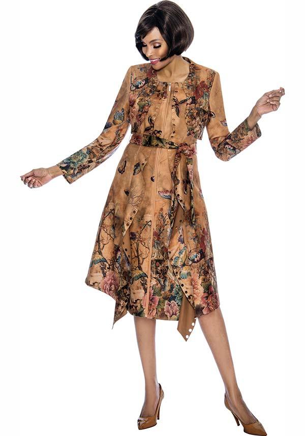 Susanna 3864 - Printed Dress With Sash