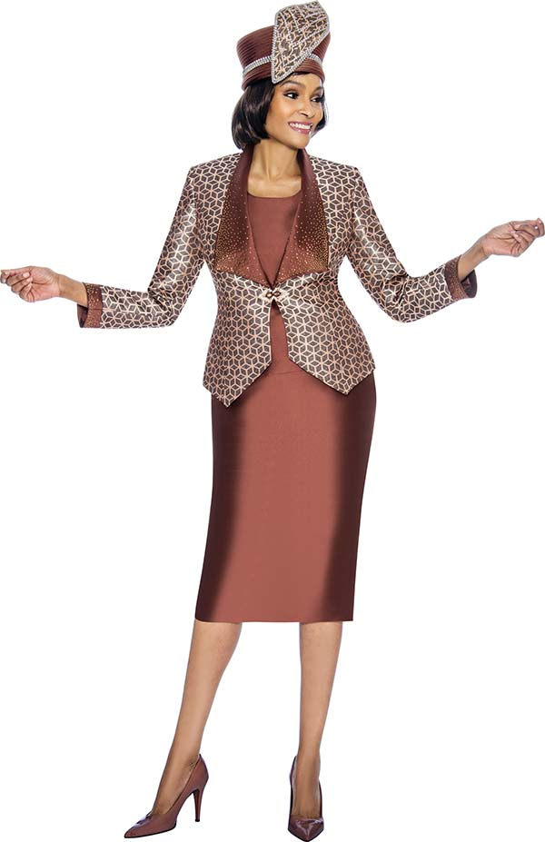 Susanna 3874 - Three Piece Skirt Outfit With Geometric Print Design
