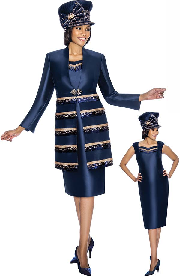 Susanna 3878 - Two Piece Dress With Long Tiered Effect Jacket