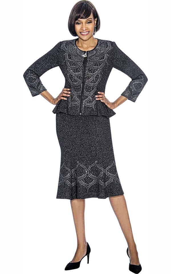 Susanna 3879 - Womens Flared Skirt Set With Peplum Jacket
