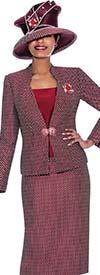 Susanna 3920 - Three Piece Skirt Suit With Split Buttoned Cuff Jacket