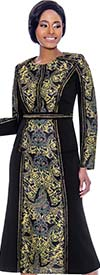 Susanna 3933 - Flared Skirt & Jacket Set With Printed Design