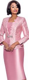 Susanna 3943-Mauve - Three Piece Church Suit With Organza Ruffle Trimmed Jacket