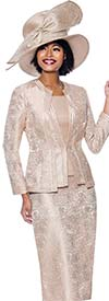 Susanna 3954 - Three Piece Womens Church Suit With Intricate Rose Flower Pattern