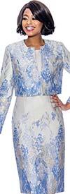 Susanna 3960 Sheath Dress With Bolero Jacket In Printed Design