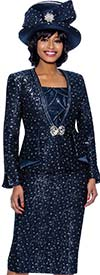 Susanna 3963 - Womens Three Piece Church Suit With Weaved Texture Design