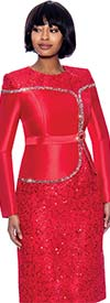 Susanna 3965 - Womens Silk Look & Lace Fabric Embellished Suit