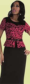 Tally Taylor 9438-Fuchsia - One Piece Dress With Animal Print