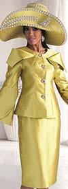 Tally Taylor 4570 - Expanded Collar Tulip Sleeve Jacket & Skirt Set