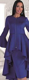 Tally Taylor 4629 - Bell Sleeve High Low Peplum Jacket & Skirt Set