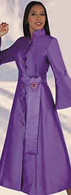 Tally Taylor 4732 - Womens Bell Sleeve Church Robe With Sash & Brooch