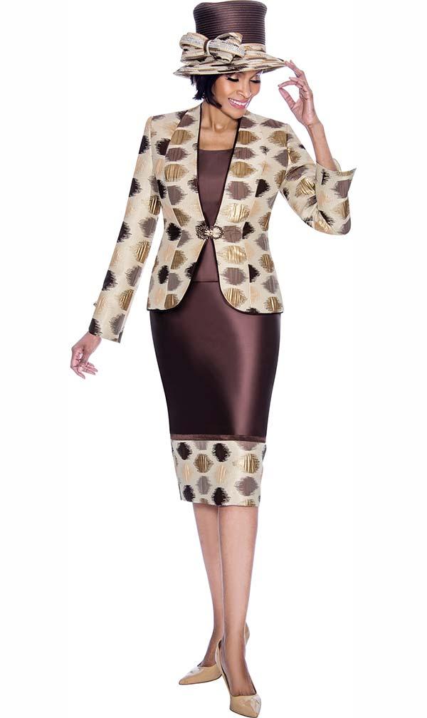 Terramina 7688 - Multi Spot Design Printed Skirt Outfit