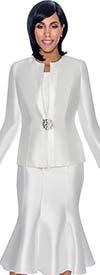 Terramina 7689-Pearl - Three Piece Flared Skirt Suit