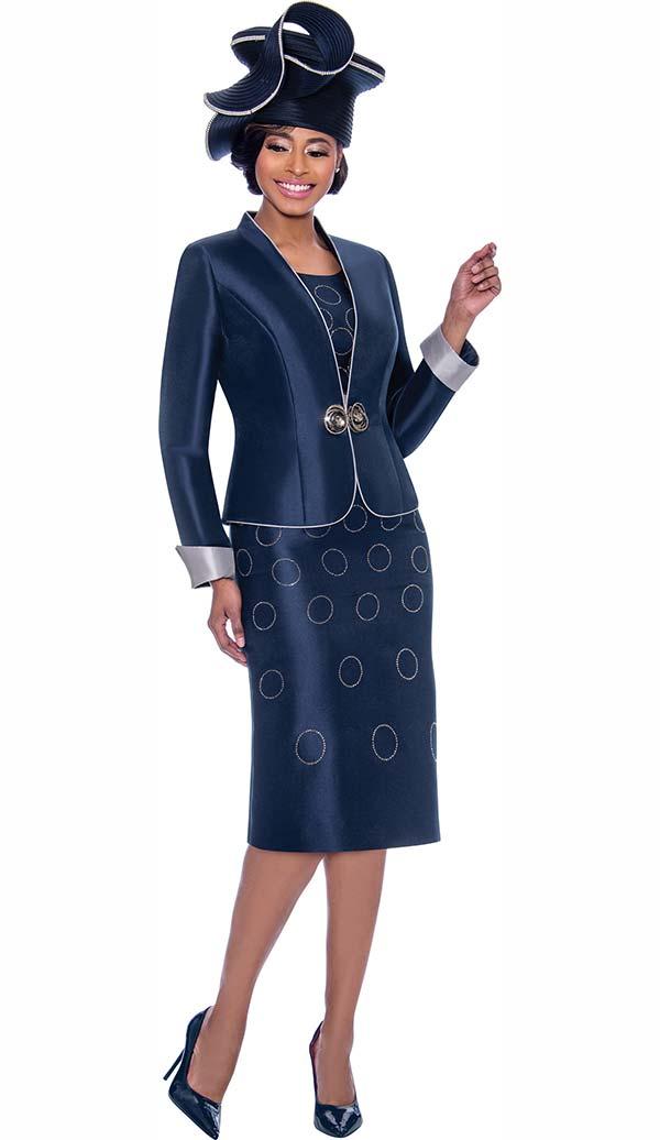 Terramina 7777 - Church Dress With Spherical Pattern Design & Rolled Cuff Jacket