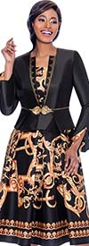 Terramina 7786 Pleated Dress & Jacket Set With Multi Color Print Design