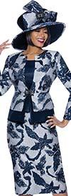 Terramina 7918 - Womens Floral Brocade Style Three Piece Church Suit