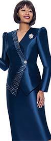 Terramina 7919 - Embellished Ladies Skirt Suit With Puff Sleeve Jacket