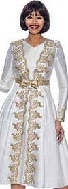 Terramina 7927 - A-Line Dress With Applique Accented Design And Bow