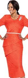 Terramina 7592 Ladies Texture Design Dress With Embellished Waistline Detail