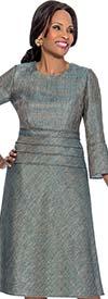 Terramina 7616 Bell Sleeve Dress With Iridescent Fabric