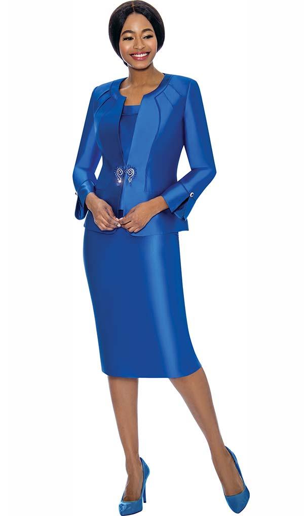 Terramina 7725 - Ladies Church Suit With Split Button Sleeve Jacket