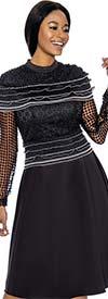 Terramina 7732 -  Multi Ruffled Lace Accented Dress