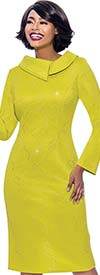 Terramina 7804 - Embellished Sheath Dress With Split Roll Collar