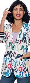 Terramina 1244 - Womens Notch Lapel Jacket In Print Design