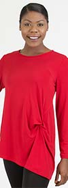 Moonlight 9049 - Womens Long Sleeve Top With Knot Design