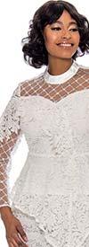 Raquel 1198 - Womens Peplum Top In Floral Lace Design