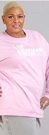 Dubgee 6003A -  Womens Long Sleeve Sweatshirt With American Dream Text Print