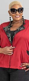 Moonlight 2500 - Womens Long Sleeve Reversible Knit Jacket Top