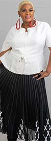 Step In Style AA18805 - Womens Short Sleeve Belted Jacket Top