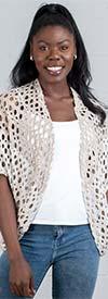 Yushi Moda 1082 Womens Net Style Shrug Top