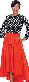 Raquel 1140 - Womens Puff Sleeve Polka Dot Top