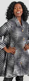 KaraChic - 243-486A-Polka Dot - Ladies African Print Long Tunic