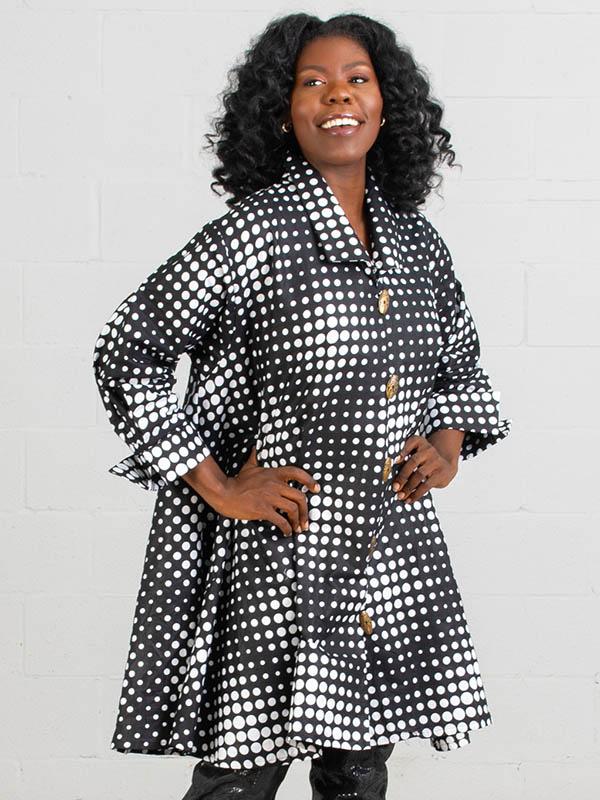 KaraChic - 243-486A - Ladies African Print Long Tunic