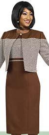 BEN-11458 Check-Patterned Dress & Jacket Set