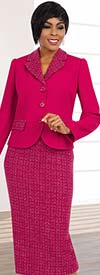 BEN-11582 Skirt Suit For Women With Notch Lapels