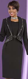 BEN-11602 Sheath Dress Suit With Edged Shawl Lapel