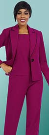 BEN-11605 Pant Suit For Women With Notch Lapel Jacket