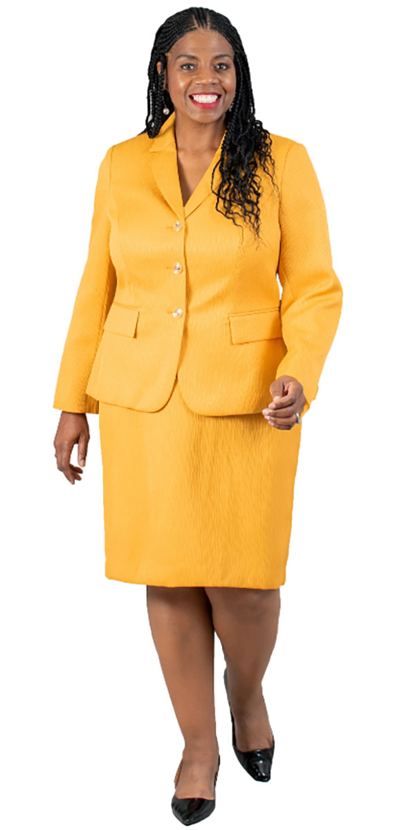 EMI-211295 Womens Two Piece Skirt Suit With Notch Lapel Jacket