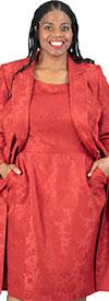 JOH-879H186 Womens Two Piece Jacket & Dress Suit