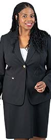 Emily-205435 Two Piece Womens Skirt Suit With One-Button Notch Lapel Jacket