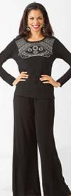 Lily and Taylor 3500 - Three Piece Womens Pant Suit
