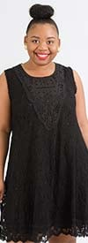 Sole Dione 2013D - Sleeveless Dress In Lace Design