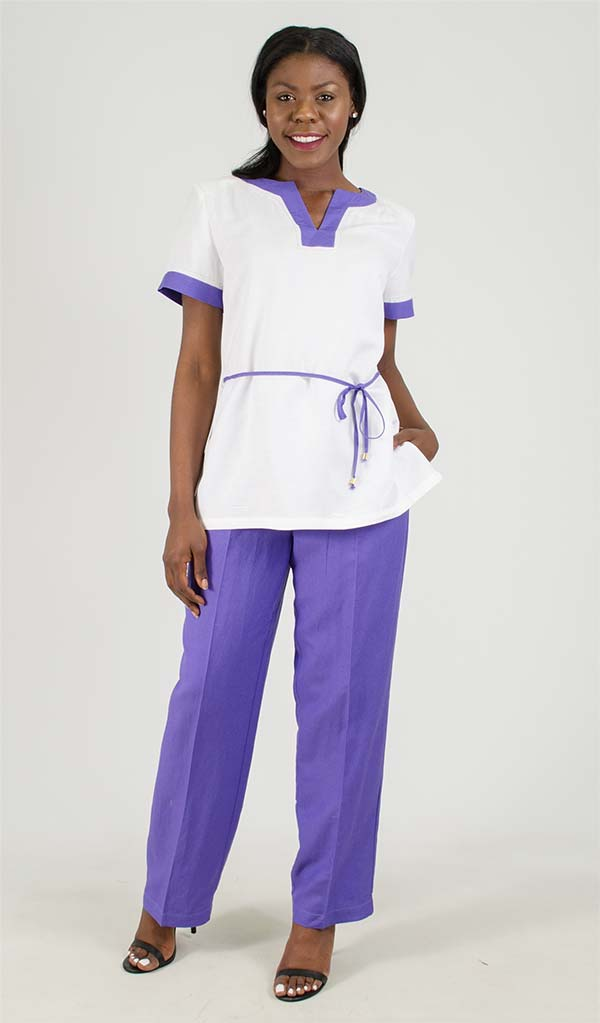 LIN-4708 Womens Pant Suit With Tied Detail